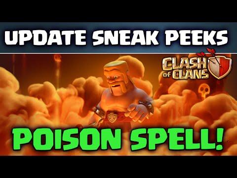 Clash of Clans UPDATE! ♦ Sneak Peeks! ♦ Dark Spell Factory ♦ POISON Spell ♦ Queue Spells! ♦