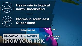 Severe Weather Update: Heavy rain in tropical nth Qld & storms in southeast Qld, 15 January 2021