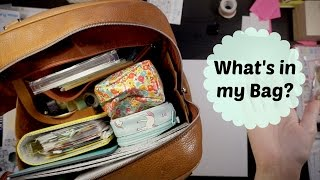 What's in my Bag - Travel Planner Bag Edition | jacquiplanana