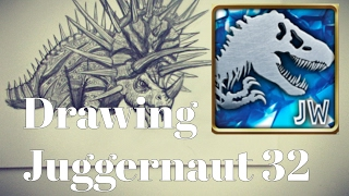 How to Draw Juggernaut 32 from Jurassic World the Game. -Danny the Dinosaur Drawer
