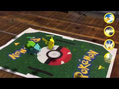 Multiplayer Augmented Reality Pokemon Battles!