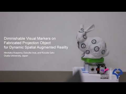 Diminishable Visual Markers on Fabricated Projection Object for Dynamic Spatial Augmented Reality
