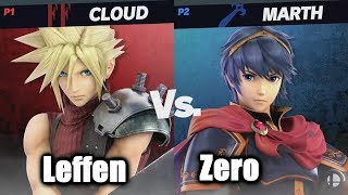 Leffen (Cloud) vs ZeRo (Marth) - Super Smash Bros. Ultimate | E3 2018
