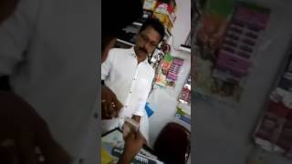 Scolding in Kannada language to a store kipper