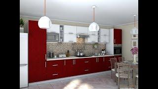 Кухня Гламур Бордо металлик. Фабрика Гарант