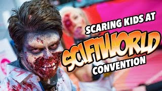 Scaring kids at the Scifi World Con (Scifi-mässan Malmö 2017)