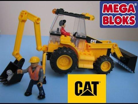 Mega Bloks Cat American Builders Cat Roadbuilding Unit Stop Motion