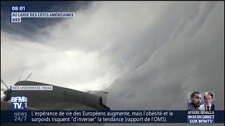 Un avion filme l'œil de l'ouragan Florence au large des côtes américaines