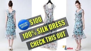 100% Silk Dress -  Summer New Fashion 2018 For Women