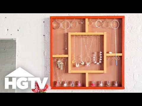 DIY Hanging Jewelry Organizer - HGTV