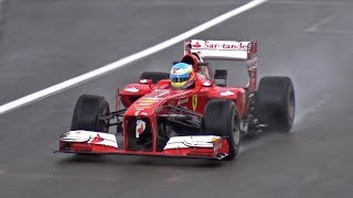 Ferrari F1 F138 Ex Alonso - EPIC V8 SOUNDS!!