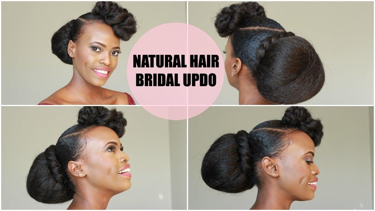 Diy Bridal Bridesmaid Natural Hair Updo Youtube