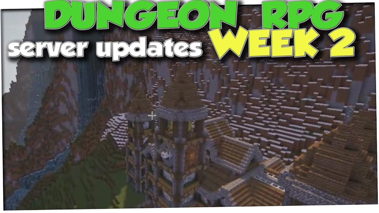 Minecraft MMORPG Dungeon Server Updates: Cities 12-125