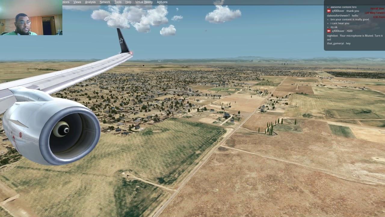 Approach & landing in Denver, CO {KDEN} in the PMDG 737-800 {P3Dv4}