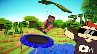 Build 6   Modsuz Trambolin, Zıp zıp Yapımı - Minecraft PE  0.14.0 Alpha