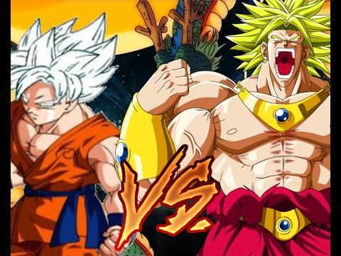 Goku Dios blanco vs Broly ssj 3 batalla final !!