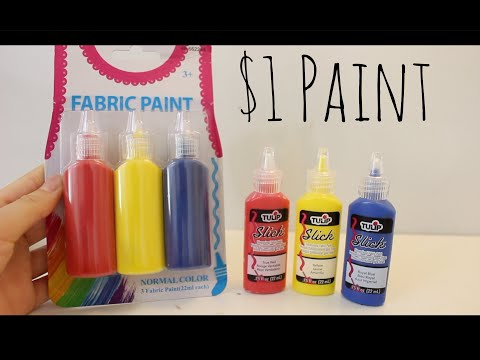 Testing out $1 Puffy Paint- Expensive vs Cheap Puffy Paint