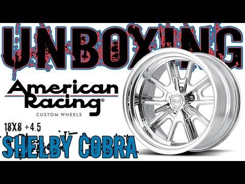 American Racing Shelby Cobra 18x8 +4.5mm Offset Wheel Rim Unboxing