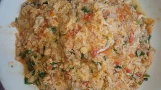 cách làm trứng thịt băm sốt cà chua tuyệt đỉnh.