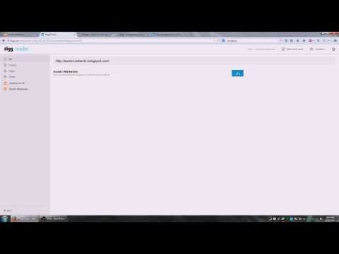 Digg Reader Tutorial for Fallowing Blogs!