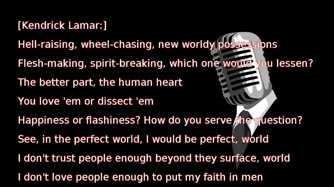 Kendrick Lamar - PRIDE  (lyrics)