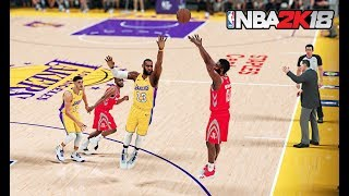 10.21.2018 Houston Rockets Vs. Los Angeles Lakers | NBA 2K18 PC Gameplay | 1440p 60fps