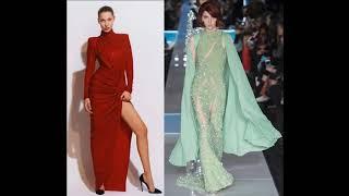 Модные вечерние платья в пол на Новый год 2019