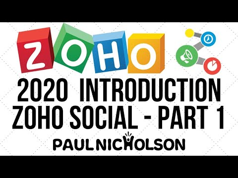 Zoho Social Introduction 2020 Beginner Tutorial