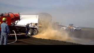 Dust Suppression Testing on Coal Fly Ash Disposal Process