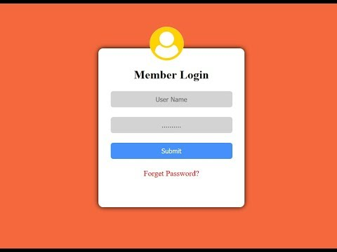 How To Create Login Form Using HTML & CSS - Html Login Page Design
