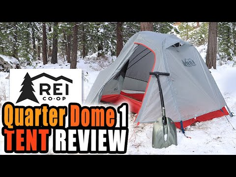 Set-UP in the SNOW! REI Co-op Quarter DOME 1 Tent | REVIEW