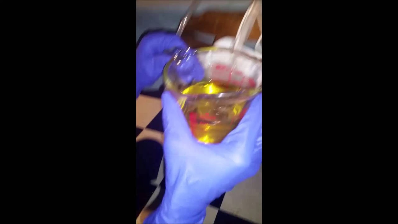 Drinking piss out of a catheter