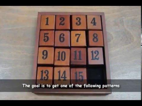 Math-GAMES: Juego Del 15 - 15-puzzzle - 15er-Zahlenpuzzle - Introduction