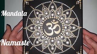 Como pintar mandalas con acrilicos #14 - Mandala Om