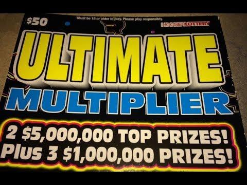 $50 ULTIMATE MULTIPLIER X 3 Hoosier Lottery Scratch Off's