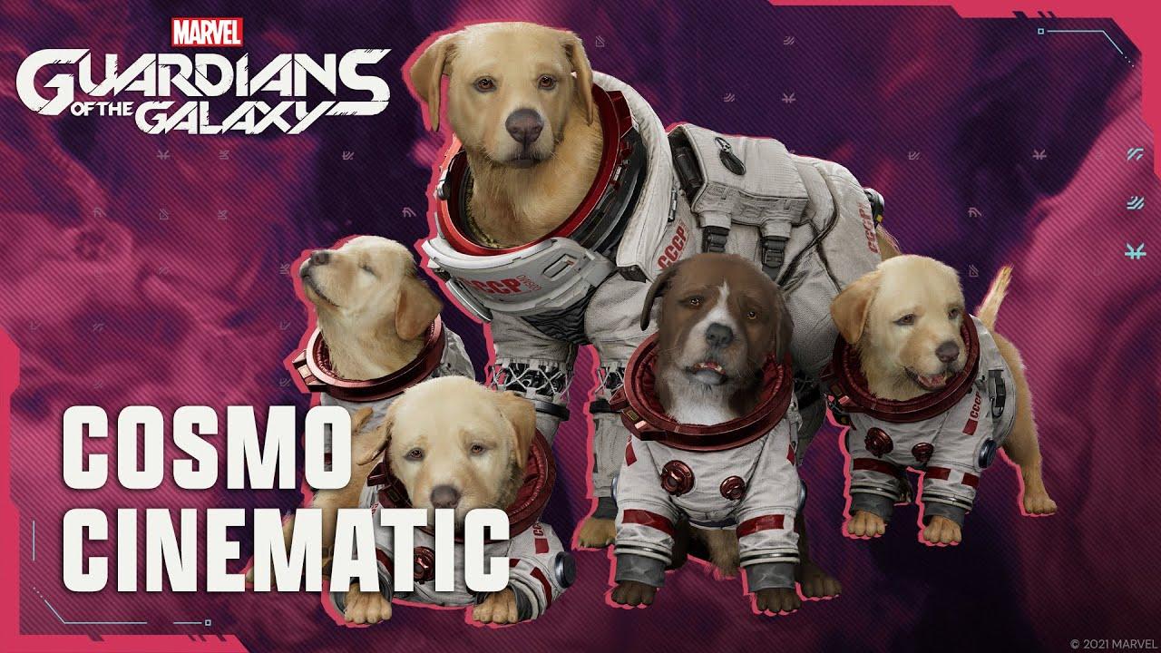 Cosmo de ruimtehond schittert in een nieuwe cutscene voor Marvel's Guardians of the Galaxy