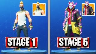 "DRIFT SKIN STAGE 5 ""MAX ARMOR"" UNLOCKED! - Fortnite DRIFT SKIN Max Upgrade GAMEPLAY! (STAGE 5 DRIFT)"
