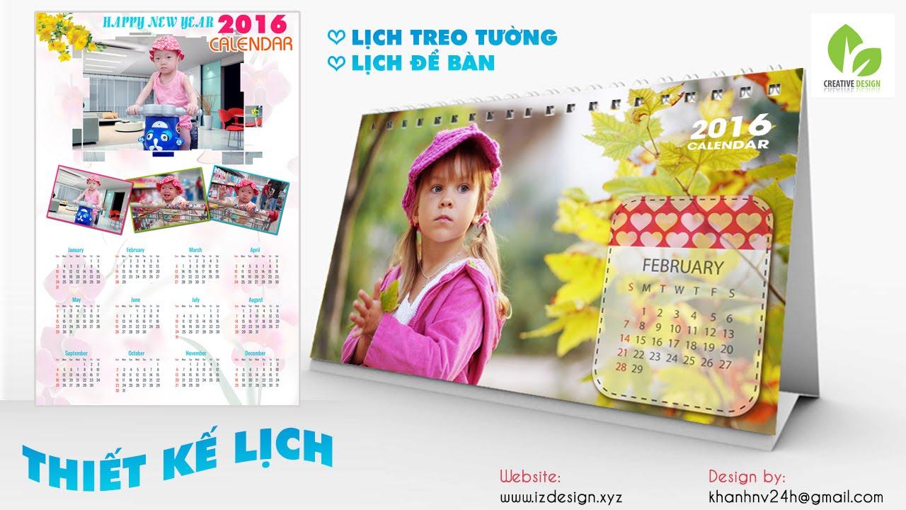 Thiết kế lịch treo tường cho bé | Calendar for baby 2016