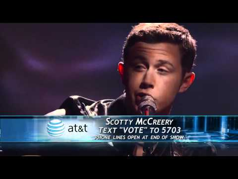 Scotty McCreery - Where Were You (1st Song) - Top 4 - American Idol 2011 - 05/11/11