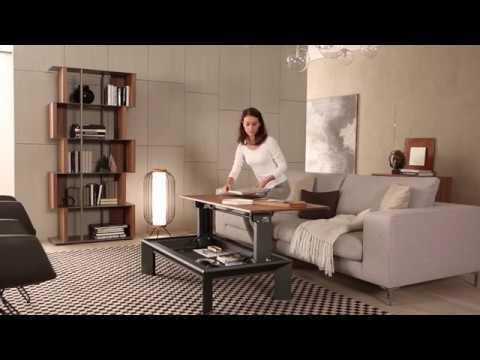 Magic By Ozzio Design.Multifunctional Coffee Table Metrino Ozzio Italia Youtube