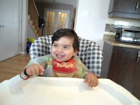 Baby laughing out laud