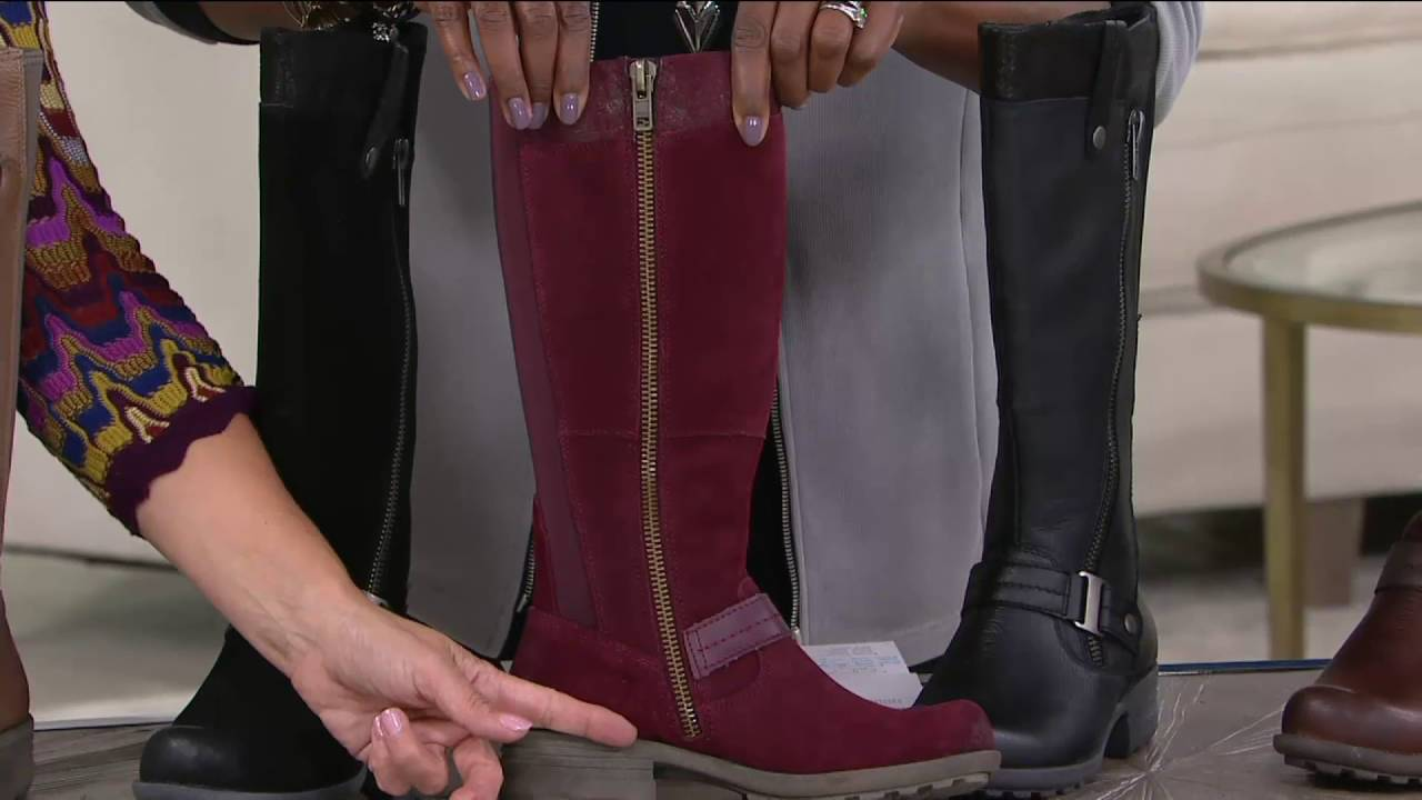 7b75e0d3af9 Earth Origins Leather Choice of Calf Width Tall Boots - Portia on ...