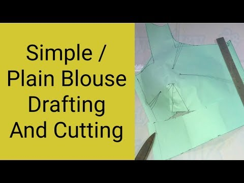 Simple Blouse Cutting Easy Method/Plain Blouse Drafting In Hindi/By Durgavati  Vishwakarma