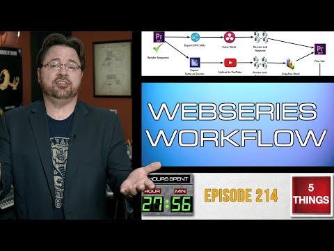 5 THINGS: On Webseries Workflow (ep 214) Production, Post Production, Distribution, and more!
