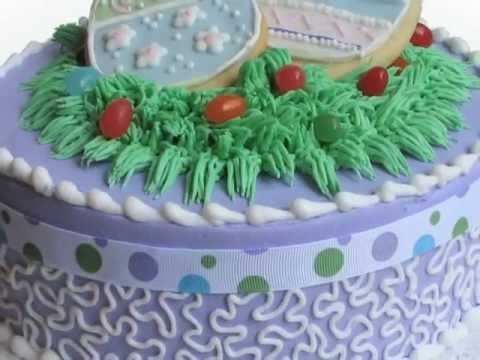 Easter Basket Cake Decorating Ideas : Easter Basket Cake Decorating and Spring Cupcakes How To ...