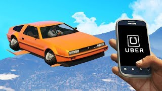 I'm An Uber Driver But I Drive A Flying Car.. (GTA RP)