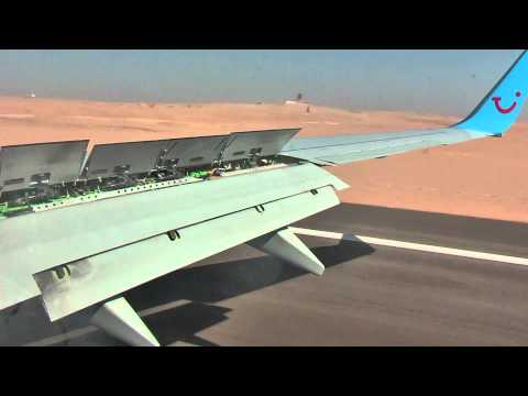 Landing on Airport Luxor Egypt with Arke Fly