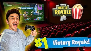 One of FaZe Rug's most viewed videos: I Won a Game of FORTNITE in a MOVIE THEATER!! (Craziest Experience EVER)