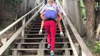 Кардио на лестнице с 51 кг живого веса