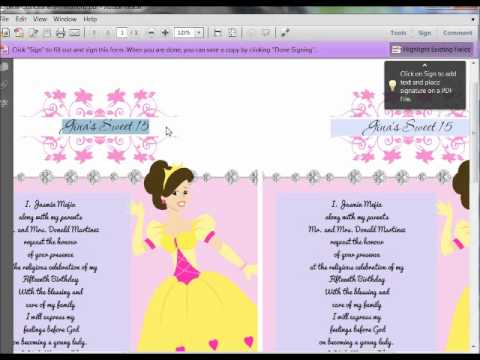 how to make invitations on the computer